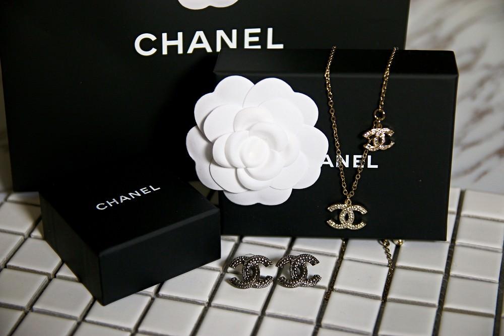 CHANEL香奈兒項鍊+香奈兒耳環
