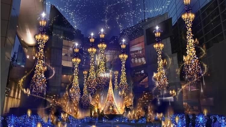 日本東京耶誕點燈汐留六本木