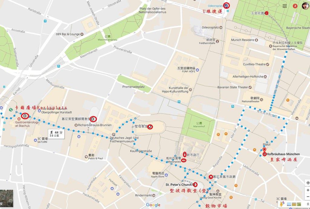 慕尼黑市區地圖